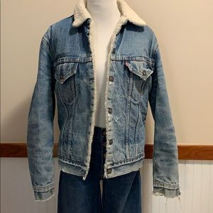 Vintage Levi's Denim Sherpa Jacket